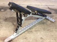 Used commercial adjustable / flat gym benches