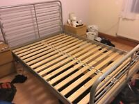Steel Queen Bed Frame Ikea - Good condition, great price