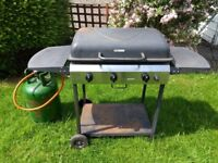 Barbeque BBQ 3 Gas Burner plus some gas