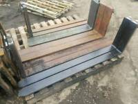Selection of forklift pallet forks tractor telehandler etc