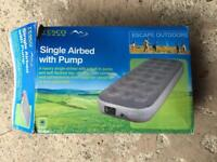 Tesco single air bed with built in pump