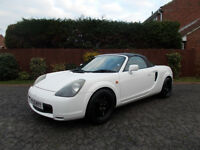 TOYOTA MR2 ROADSTER CONVERTIBLE VVTI BRILLIANT WHITE ONLY 80K MILES BARGAIN 1250 *LOOK* PX/DELIVERY