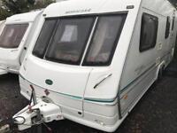 Bessacarr cameo 550gl 2001 twin axle 4 berth touring caravan