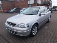 VAUXHALL ASTRA 1.6 ACTIVE (53) VERY LOW MILES, SERVICE HISTORY.