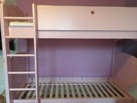 Beautiful solid wood bunk beds - Feather and Black Noah range - in pink. Excellent condition.