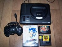 Sega Mega Drive Console with 3 games Megadrive
