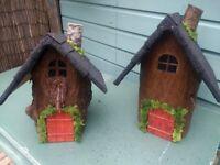 Log Fairy Houses-