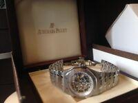 Audemars piguet skeleton watch, also Cartier Santos, patrek pilippe and hublot