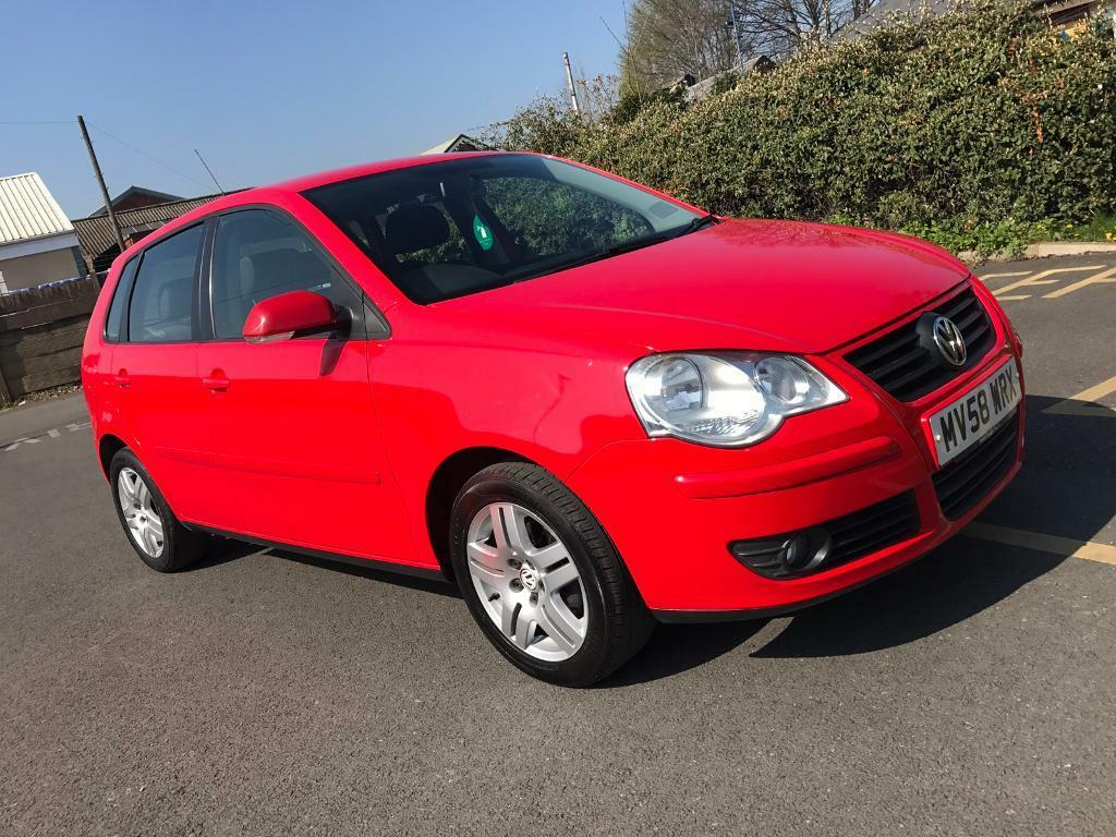 2008/58 VOLKSWAGEN POLO 1.2 MATCH PETROL MANUAL 5 DOOR RED LOW MILEAGE 50K ONLY - BARGAIN PRICE