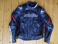Dainese leather jacket size 52