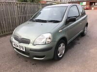 TOYOTA YARIS 1.0 LTR. , VERY LOW ON INSURANCE, 54K MILES, NEW MOT, JUST SERVICED,