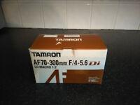 Brand NEW Tamron AF 70-300mm f/4-5.6 Di LD Macro