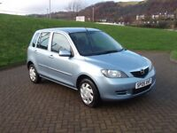 Mazda 2 1.4 Antares 2005 Only 72000 Miles FSH MOT Expires 19/11/2018 New Tyres Excellent Condition