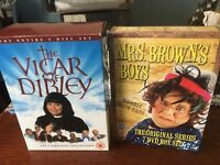 Classic Comedy - Mrs Brown's Boys & Vicar of Dibley Box Sets. 12 discs in total