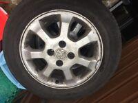 4 stud Vauxhall alloys £30