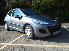 Peugoet 207 1.4S 2010 with air conditioning, electric windows and mirrors in metallic mercury grey
