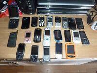 Job lot 24 x mobile phones: Samsung, Nokia , Virgin, iPhones.
