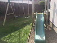 Wooden swing set and slide - Plum Products