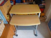 Computer desk - pine with aluminium frame