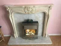 Electric marble fire place