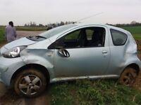 Toyota Aygo Sport. Non runner. All one side damage.