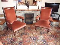 Antique Edwardian Fireside Chairs