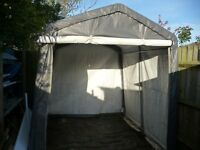 Lage canvas storage shed