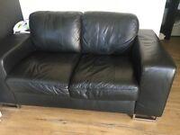 Reids black sofa