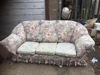 3 seater sofa with removalable covers