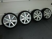 "MERCEDES-BENZ C CLASS 18"" AMG 7-SPOKE ALLOY WHEELS WITH CONTINENTAL TYRES"