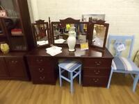 mahogany dresser with mirror