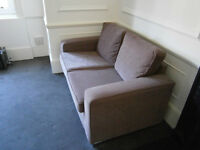 New York style chocolate coloured 2.5 seater sofas for sale (x2)
