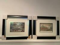 2 x Framed L S Lowry Prints