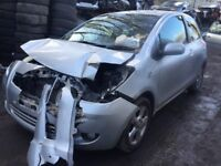 toyota yaris 2007 1.3 petrol 3dr silver - breaking for spares *wheel nut*
