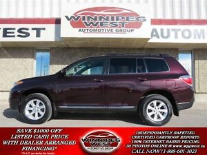 2012 Toyota Highlander ALL WHEEL DRIVE, LOADED MANITOBA SUV, 7 P
