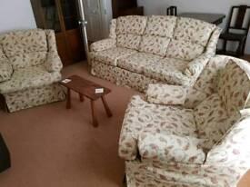Sofa plus 2 x single chairs