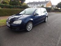 VW Golf GT170 TDi. 2007 '07'. 158k FSH, 12m MOT. Excellent Condition. 170BHP. Clutch & C/belt done