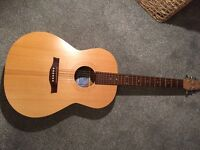 Seagull Excursion Natural Folk Solid Spruce Guitar.