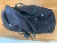 Navy holdall luggage wheeled travel bag suitcase
