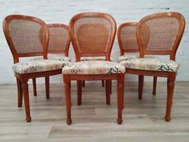 Six Balloon Back Dining Chairs By Grange Furniture (DELIVERY AVAILABLE)