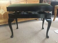 Piano Stool - Black French polish