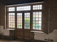 Patio doors and sides - Pine - Leaded glass
