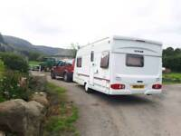 Touring Caravan Lunar Clubman 2003 470-2 With Awning