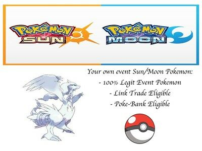Pokemon Ultra Sun and Moon Spring 2012 Event Reshiram Event Pokemon