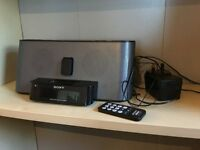 Sony Am/FM Clock Radio with iPod docking station. Model ICF-C1iPMK2