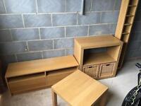 Ikea light oak furniture 4 piece
