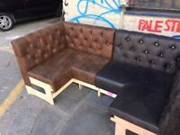 8 pieces Beautiful quality Club & Bar seating, Brown, JOB LOT. Leather - must be collected tomorrow!