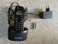 Panasonic cordless phone with base station & rechargeable batteries,