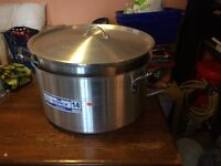 2 x Large Cooking Pots Catering 70 litre and 50 litre