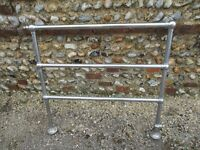 Vintage Chrome Heated Towel Radiator